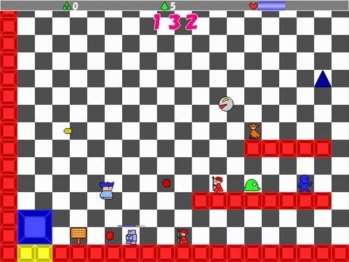 ヤシーユのシンプルアクション Game Screen Shot