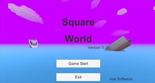 SquareWorld Version0.33 Game Screen Shot