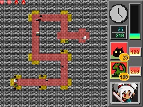 キマシタワーディフェンス Game Screen Shot1