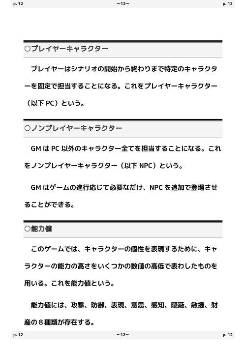 百獣戦記プレイズ&プレデターズ テーブルトークRPG 基本ルールブック Game Screen Shot3