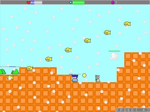 ラシーユのシューティングアクション2 Game Screen Shot1