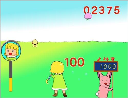 ナバナのフルーツバッティング Game Screen Shot