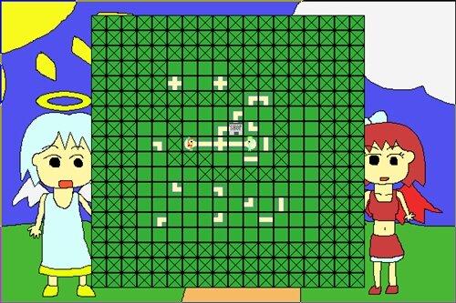 天使のんと悪魔のサキ Game Screen Shot1