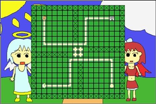 天使のんと悪魔のサキ Game Screen Shots