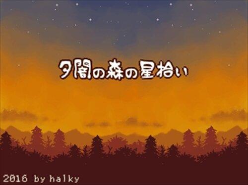 夕闇の森の星拾い Game Screen Shot2