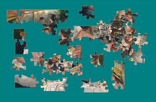『絵画パズル』 ルノワール Game Screen Shot1