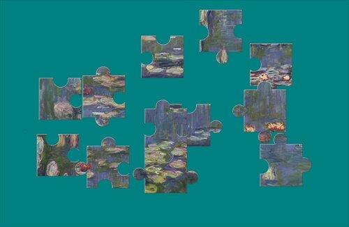『絵画パズル』 モネ Game Screen Shot1