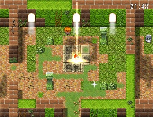ブラックサンタと雪だるま Game Screen Shot1