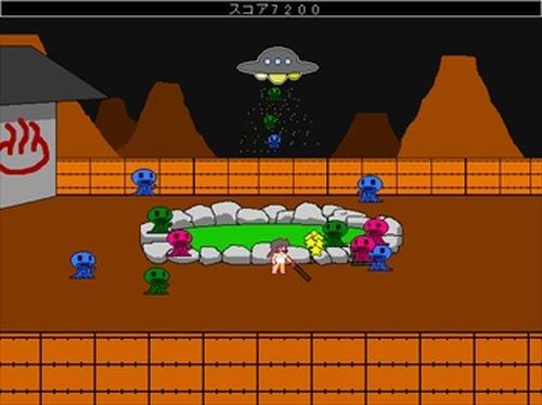 温泉ギャル対宇宙人 Game Screen Shots