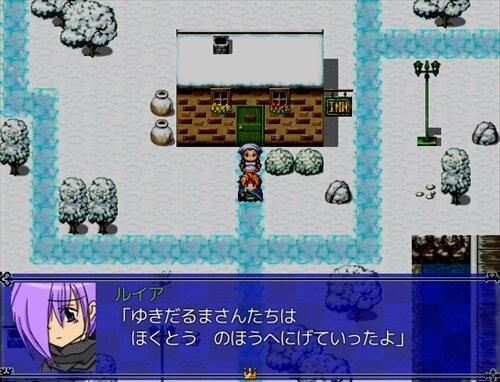 冬と夜空とゆきだるま Game Screen Shot