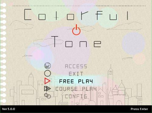 ColorfulTone Game Screen Shot