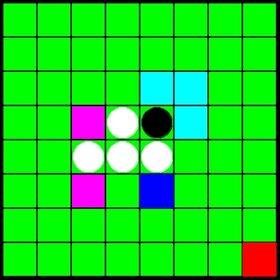 白黒石を置くゲーム Game Screen Shot2