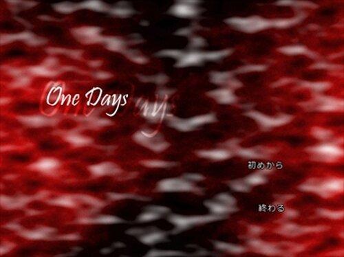 OneDays Game Screen Shot2