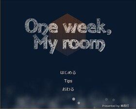 One week, My room Game Screen Shot2