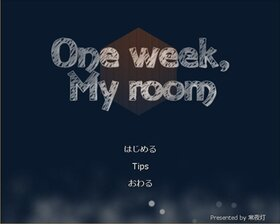One week, My room Game Screen Shot2