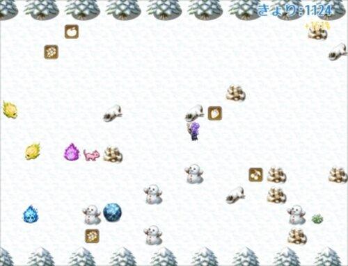 ピチの雪山ランニング - ぼうけんのほし外伝 Game Screen Shots
