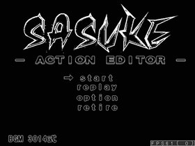SASUKE -ACTION EDITOR-  (クリア後ステージ追加!) Game Screen Shot2
