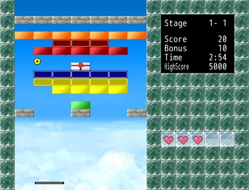 ブロック崩しFreeMaker Game Screen Shot