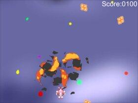 "Break the meteor of ""karaage"" Game Screen Shot3"