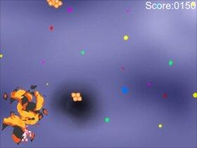 "Break the meteor of ""karaage"" Game Screen Shot4"