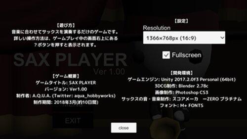 SAX PLAYER Game Screen Shot4