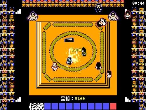 土俵に上がってくる女性に塩を撒いて追い払い国技の伝統を守るゲーム Game Screen Shot1
