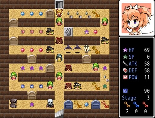 クラピィのうぇるかむヘル魔宮 Game Screen Shot