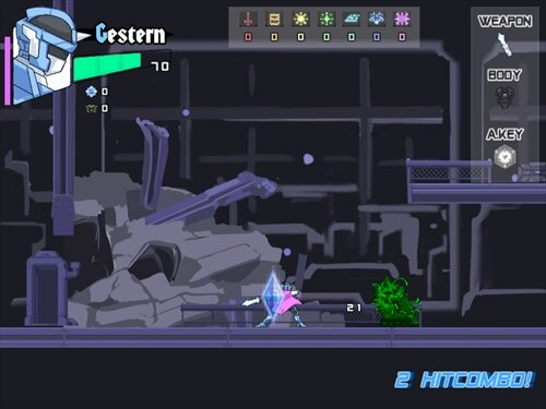 MeteorHeldGester Game Screen Shot