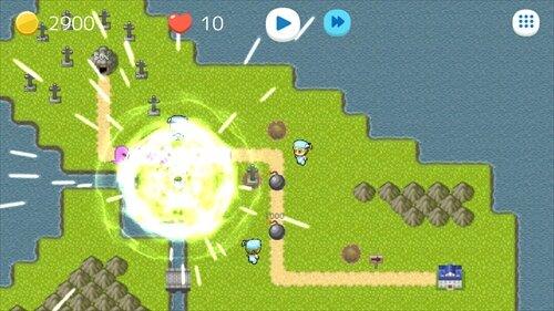 ボンバータワーディフェンス Game Screen Shot1
