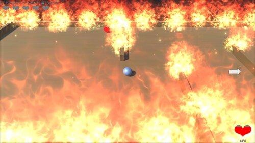 火から逃げろ! Game Screen Shot