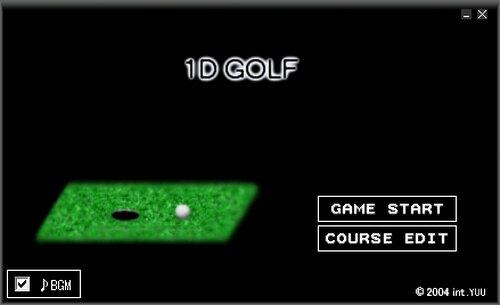 一次元ゴルフ Game Screen Shot