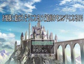お姫様と結ばれそうになるけど結局ホモエンドになるRPG Game Screen Shot5