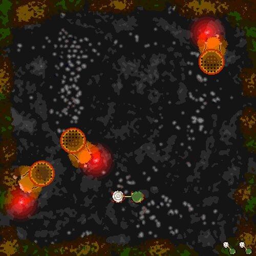 助けあう自機 Game Screen Shot1