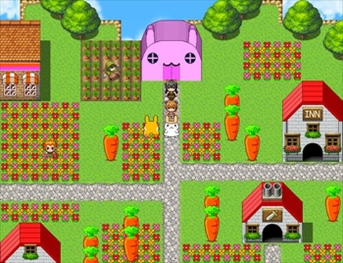 少女と毛を失うウサギ Game Screen Shot4