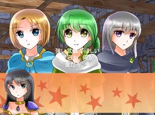 女戦士と曲者揃いの仲間たち Game Screen Shot2