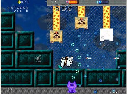 ネコバズーカ・アーケード Game Screen Shot1