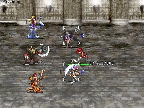 『男無双打!戦闘実験版』 Game Screen Shot1