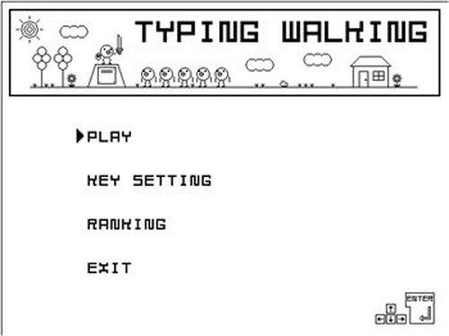TypingWalking Game Screen Shot2