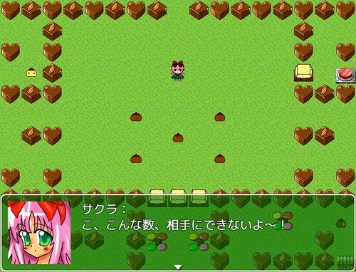 女装主人公と少女VSお菓子 Game Screen Shot1