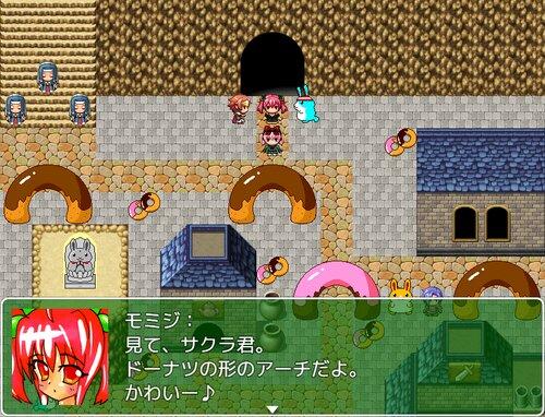 女装主人公と少女VSお菓子 Game Screen Shots