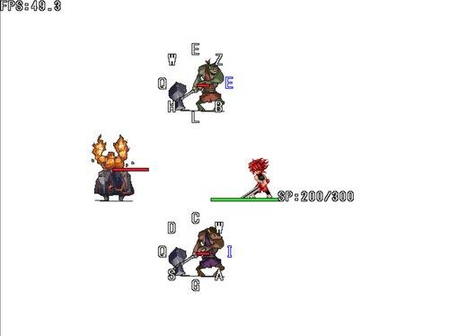 タイピングマスター格闘【男無双打】 Game Screen Shot2