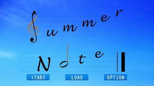 Summer Note 体験版 Game Screen Shot