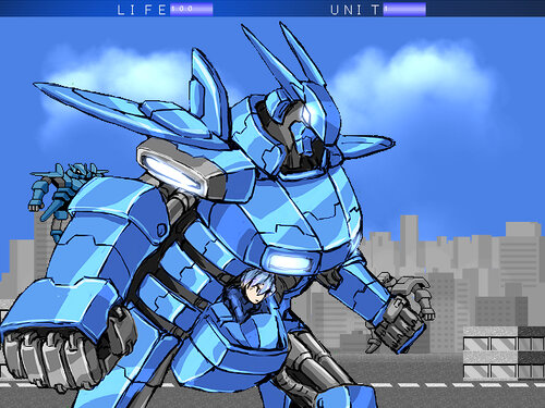 超破壊ロボ ブレイカブル― Game Screen Shot
