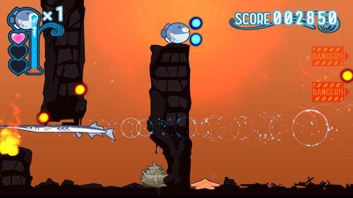 水をはくふぐのゲーム Game Screen Shot1