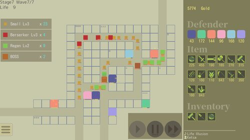 Flat Defence Game Screen Shot2