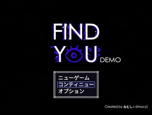 FIND YOU DEMO Game Screen Shot