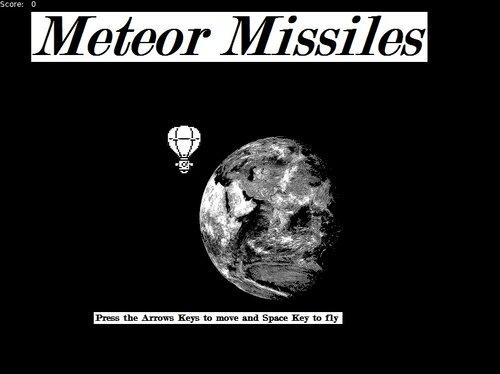 Meteor Missiles Game Screen Shot1