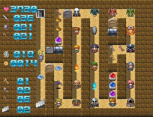 魔塔の国のアリス Game Screen Shot