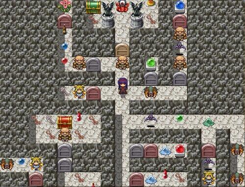 魔塔の悪夢のマリス Game Screen Shot