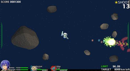 RIOT BARRAGE(フリー版) Game Screen Shot